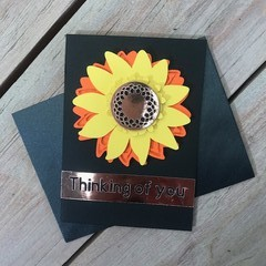 """Sunflower """"Thinking of you"""" card"""