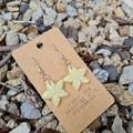 Polymer clay starfish earrings - glow in the dark