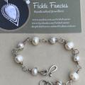 Silver Wrapped Pearl Bracelet