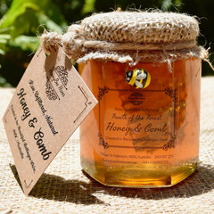 Artisan Honey & Comb in Glass Jar