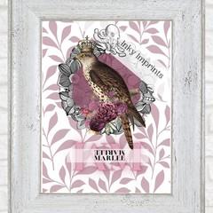 Marlee Vintage Floral Bird Custom Name Digital Download