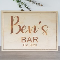 Personalised Etched Signs