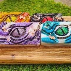 Dragon Eye Organic, Vegan, Handmade, Hand painted Soap. Shea butter, Coconut oil