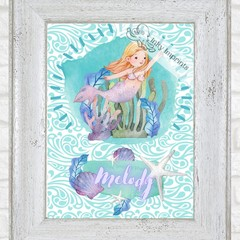 Melody The Mermaid Custom Name Digital Download