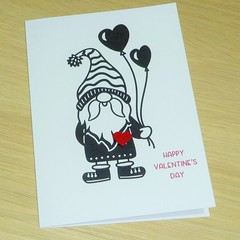 Valentines Day card - Gnome