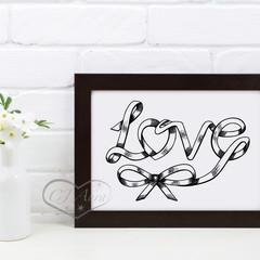 Unique Love Word Art Printable Instant Download