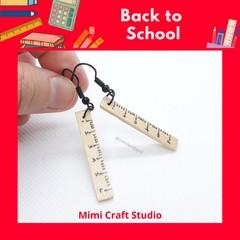 Ruler dangle earrings, back to school earrings, teacher earrings, cute earrings