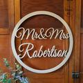 Personalised Mr & Mrs Wedding Monogram Sign