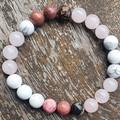 B Blissful ~ Set of 3 Gemstone Beaded Bracelets ~