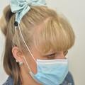 Pink Hearts Bow Ear Saver for Ear Loop Face Masks