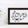 Unique Love Word Art Printable Instant Download