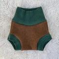 Medium Cherries Wool Nappy Cover - extra short cuffs