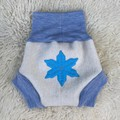 Large Frozen Wool Nappy Cover - short cuffs