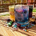 Homemade, Hand-poured Boho Candle. Soy and Gel wax combo Candle. Galaxy.