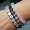 B Blissful ~ Set of 3 Gemstone Beaded Bracelets ~
