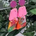 Musk Pyramid Pebbles Dangle earrings - Handcrafted dangle earrings