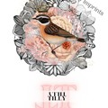 Tilly Pink Vintage Floral Bird Custom Name Digital Download