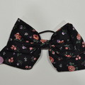 Black Floral Bow Ear Saver for Ear Loop Face Masks