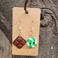 Polymer clay choc mint earrings