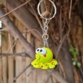 Polymer clay Octopus keyring or bag charm