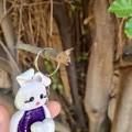 Polymer Clay Easter Bunny Rabbit Keyring / bag charm