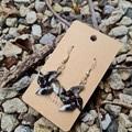 Polymer clay pinwheel earrings