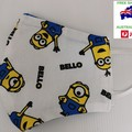 xl (male) minions triple cotton facemask with filter pocket and nosewire