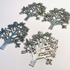 Tibetan silver large tree  charm for jewellery making.