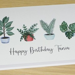 Potted plants Happy Birthday card