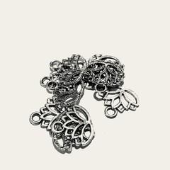 Tibetan silver Lotus charm for jewellery making.