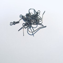 stainless steel antique silver earring wires/hooks