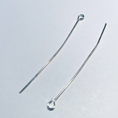 50 mm metal  bright silver eye hook pins for DIY Jewellery making