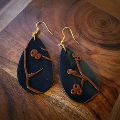 Gumnuts at night earrings