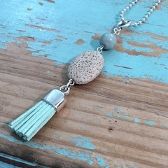 Agate Tassel Necklace (017)