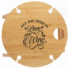 Portable Picnic Table Round  ~  perfect for Valentines day
