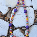 Colourful Wood & Ceramic Necklace