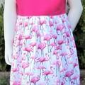 Pink Flamingo  Pinafore