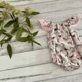 Seaside koala Romper, Size 00, Baby Girl Romper, Baby Girls Playsuit