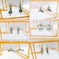 925 Sterling silver ear wire and Tibetan silver ballet/dance themed earrings.