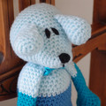 Dani Bear : crochet, safe, OOAK, washable, baby shower, by CuddleCorner