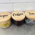 Coffee, Tea & Sugar Labels