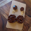 Knitted Chocolate Brown earrings