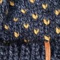 Knitted grey slouchy beanie, charcoal beanie hat, mustard ladies beanie, black m