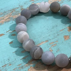 Frosted Agate Bracelet (265)