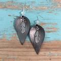Faux Leather Drop Earrings