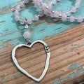 Rose Quartz Necklace (173)