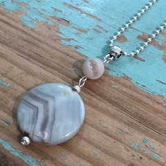 Agate Necklace (328)