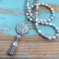Vintage Glass Drop Necklace (395)