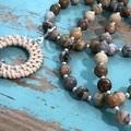 Crazy lace Agate Necklace (302)