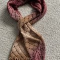 Ladies scarf- diamond pattern with bling.